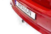 Trekhaak horizontaal afneembaar Kia Pro-Ceed 3 deurs 2013-2015