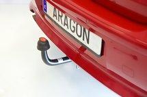 Trekhaak horizontaal afneembaar Lancia Musa MPV 2004-2008
