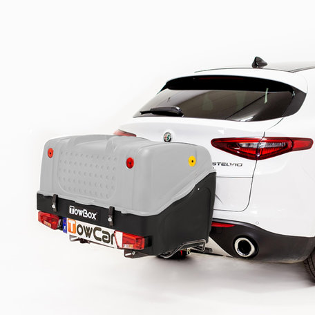 TowBox bagagebox voor op de trekhaak V1 grijs - 280L