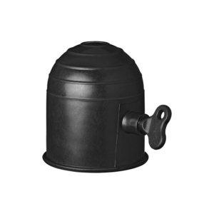 Trekhaakdop zwart met slot