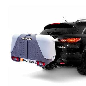 TowBox bagagebox voor op de trekhaak V2 grijs - 390L
